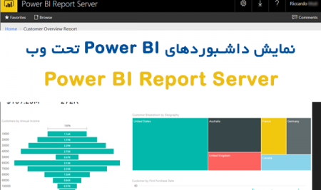 نمایش داشبورد های Power BI در بستر وب