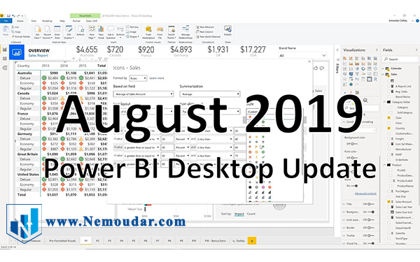 تغییرات نسخه آگوست 2019 پاور بی آی