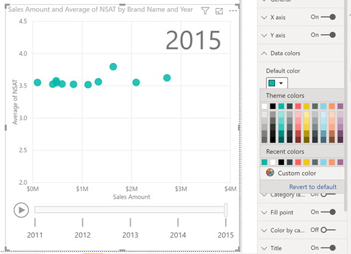Data colors support when using play axis on scatter charts