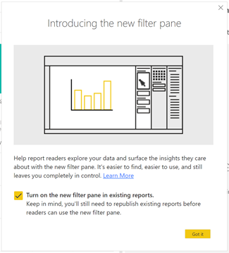 New filter pane is now generally available