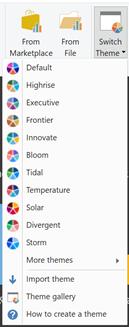 New default themes - power bi report server