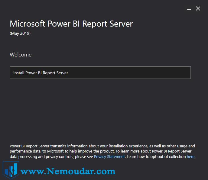 نحوه نصب Power BI report server