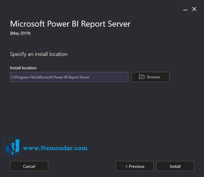 Power BI report server مراحل