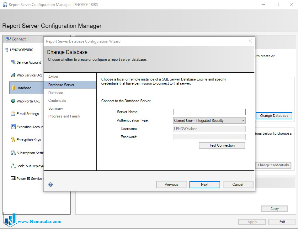 مراحل نصب Powerbi report server