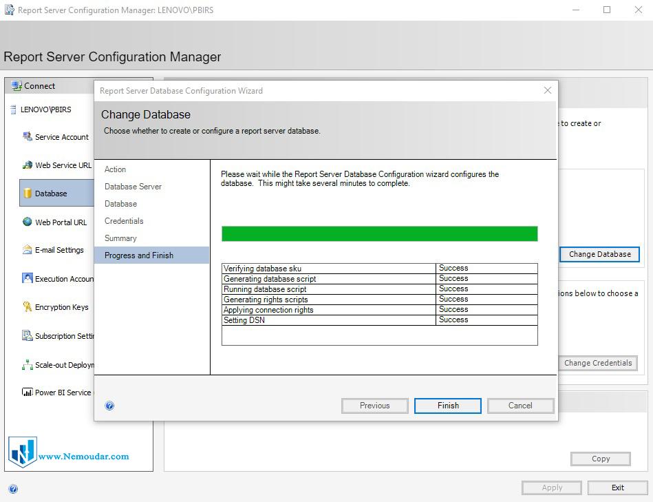 مراحل راه اندازی Power BI Report Server