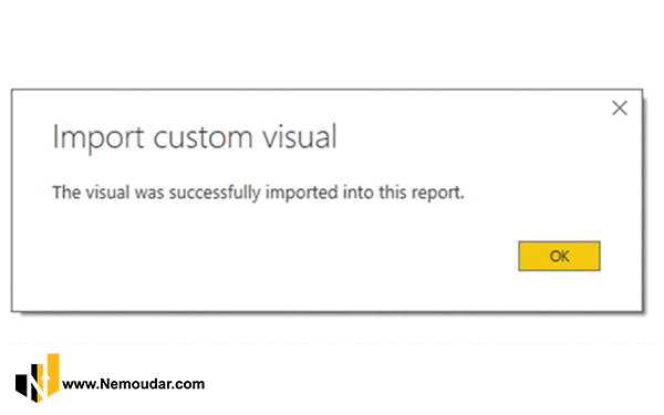 اضافه شدن custom visual به power bi