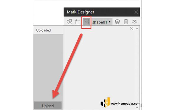 آپلود تصویر برای استفاده در custom visual