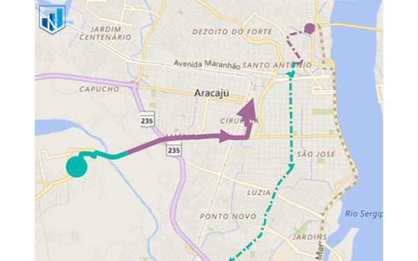 کاستوم ویژوال - route map