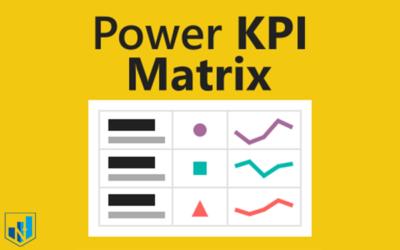 کاستوم ویژوال power kpi matrix