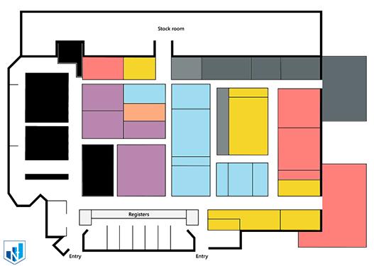 تنظیمات رنگ بخش ها در synoptic panel