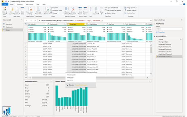 data profiling power bi