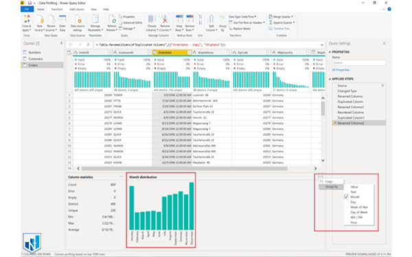 new options for data profiling in power bi report server