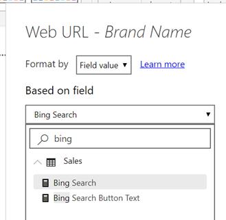 URL در ستون های جدول و مقادیر ماتریس در power bi